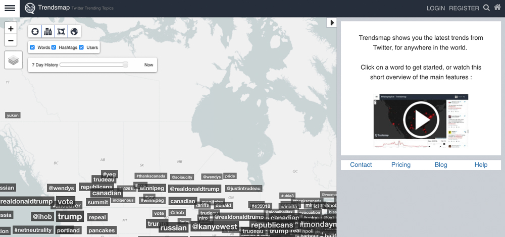 trendsmaps hash tag tracking