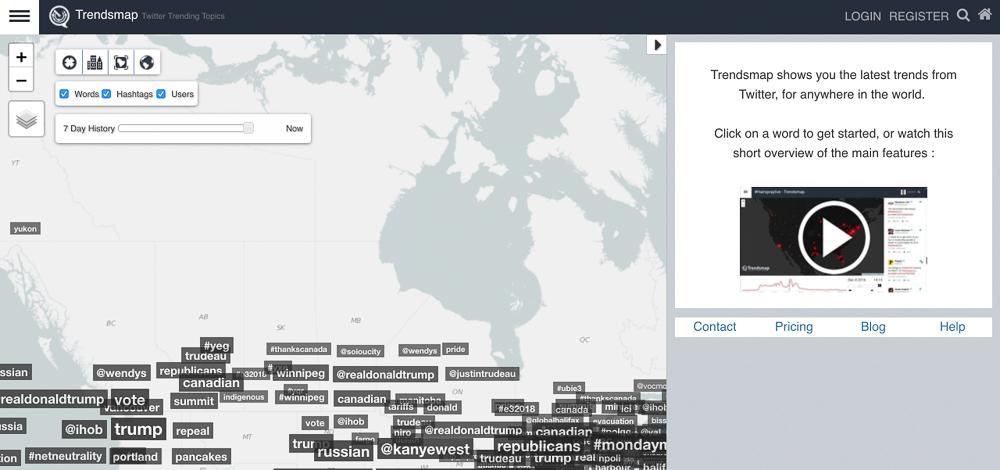 trendsmaps hash tag tracking
