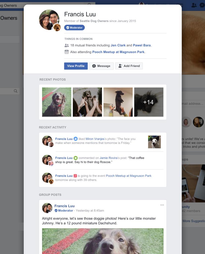facebook member profile