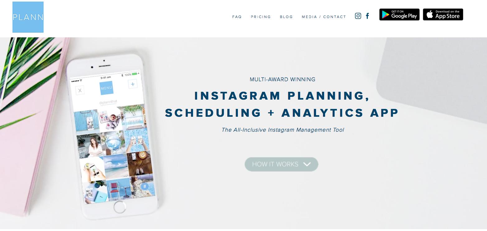 Plann Social Media Scheduling Tools