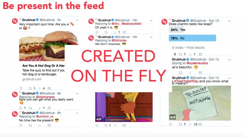 Grubhub creates social content on the fly