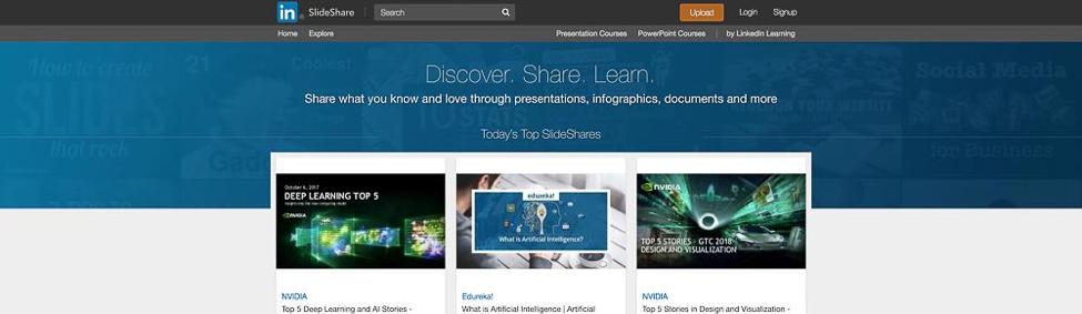 Content Tool for Social Media - Slideshare