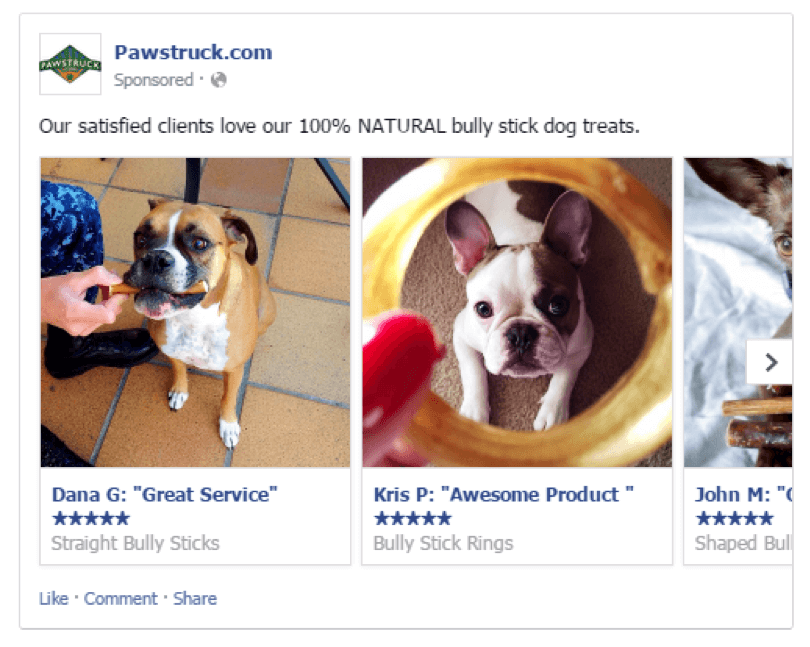 Pawstruck using social proof