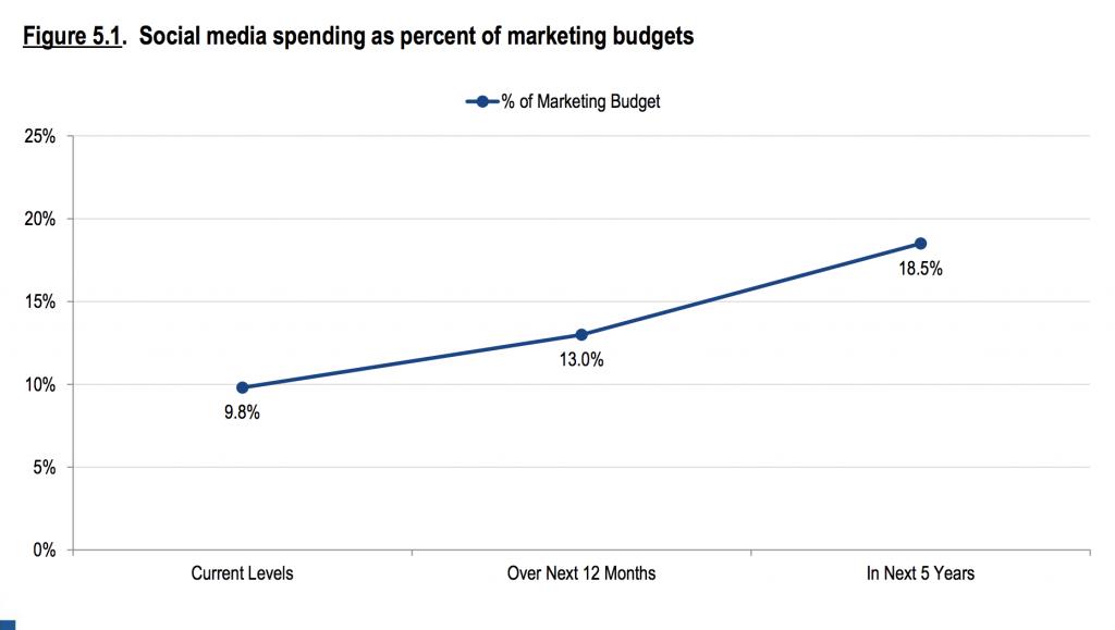 Identify social media strategy budget, tactics and tools