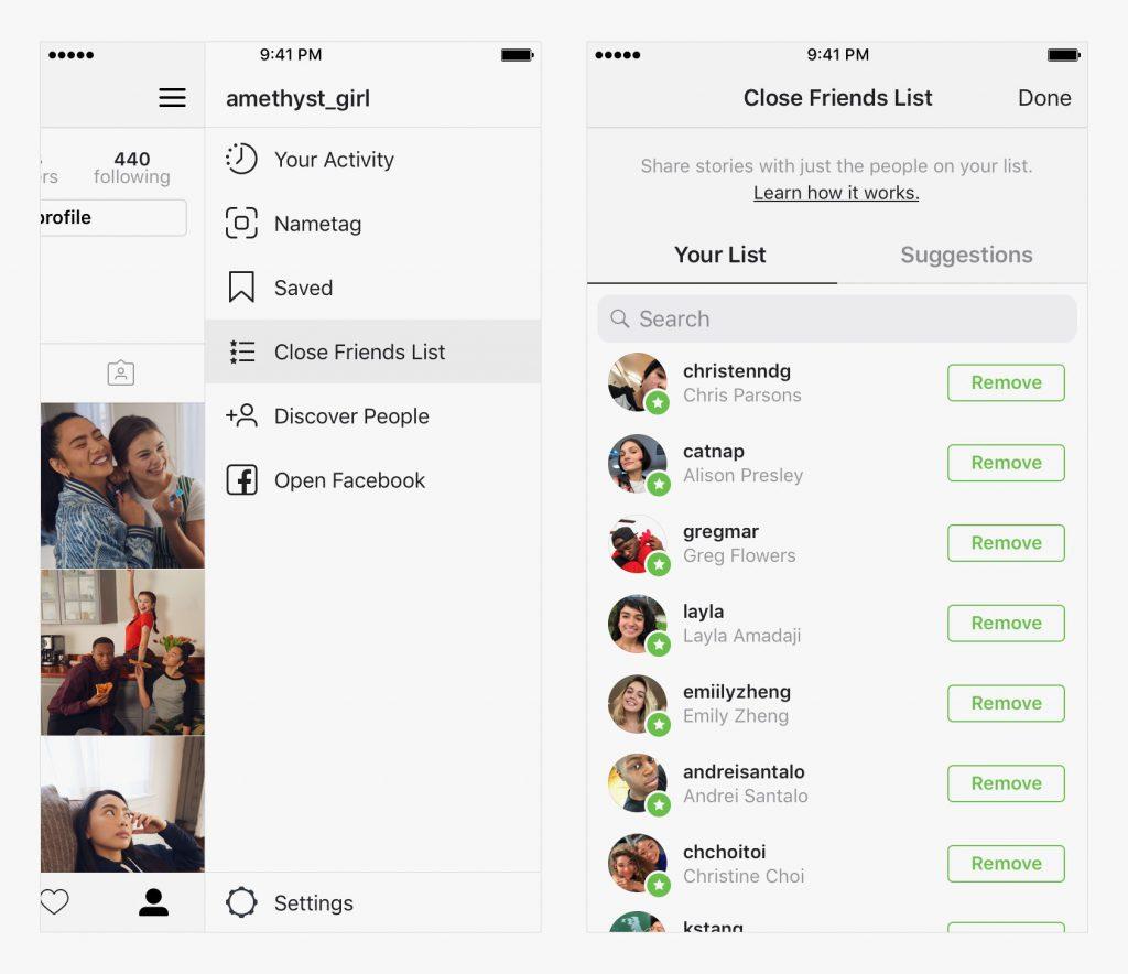 Instagram's Close Friends Feature