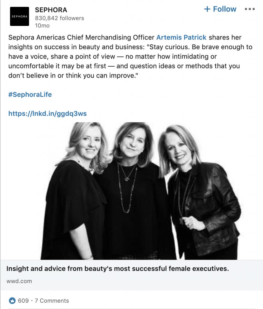 Sephora Shares Employee Thought Leadership
