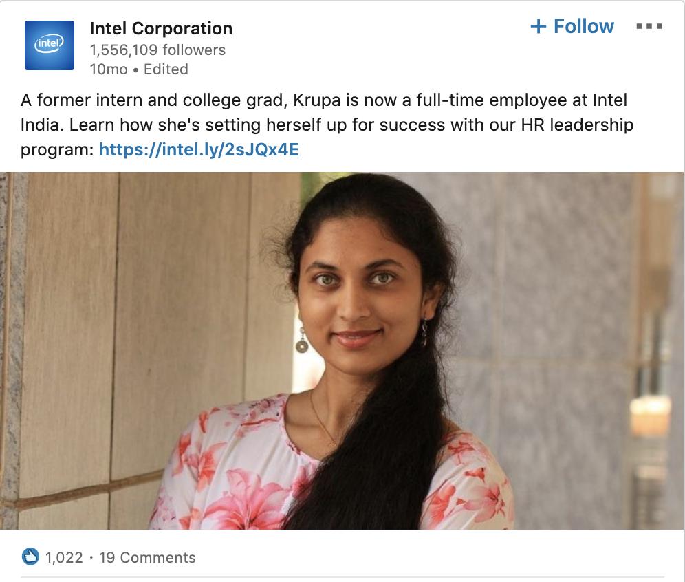 Intel Showcases Career Advancement