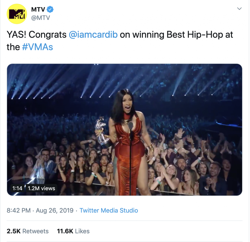 Cardi B MTV Music Awards