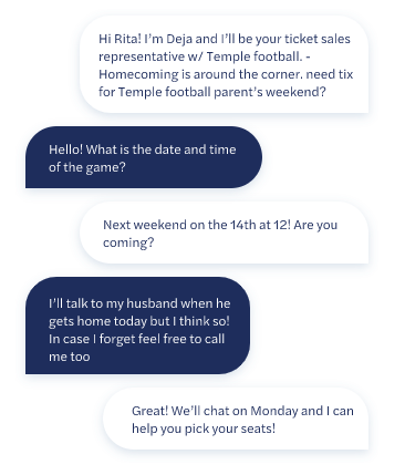 Temple University P2P Texting Campaign